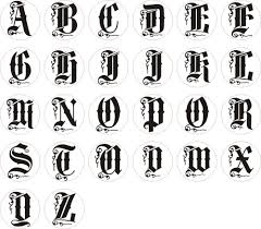 alphabets in different styles of letters wax letter seal stamp