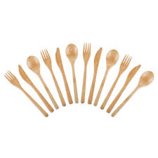 bamboo flatware core bamboo 12 piece modern flatware set change up your table