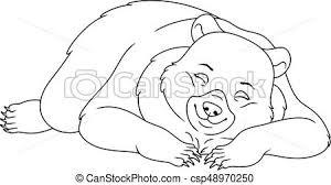 sleeping bear coloring sleeping bear white clipart