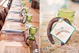 horseshoe party favors lucky in horseshoe wedding decor details salt lake park