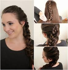 2 braids in front hair down hairstyle long natural hair easy everyday hairstyle volumized double braid 1 wash and blow