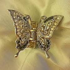 butterfly hair clip best beautiful butterfly hair clip with rhinestones black stones