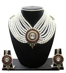 pearls necklace price images Buy zaveri pearls off white non precious metal choker necklace set jpg