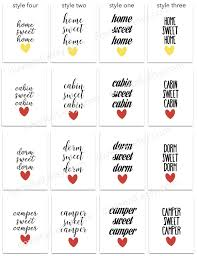 home sweet home quote art print hand lettering script home