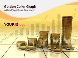 golden coins a powerpoint template from presentermedia com