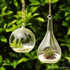 6 cm small glass hanging glass vase terrarium hanging glass vase