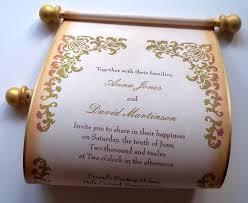 Scroll Invitations Diy Scroll Wedding Invitations Diy Do It Your Self