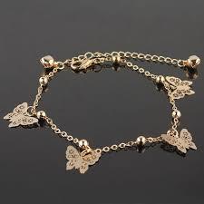 chain bracelet designs images New accessories designer butterfly anklet bracelet women fashion jpeg