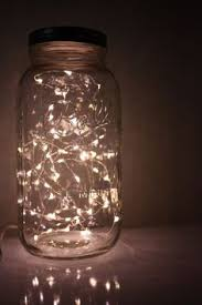create the appearance of fireflies in a jar with this unique light