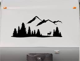 mountains motorhome stripe kit moose rv stickers trailer zoom