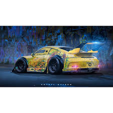 stanced porsche 911 double tap and cars are even cooler wild porsche 911 gt3