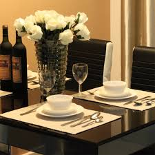 cool ideas for dining room decor using white rose dining table