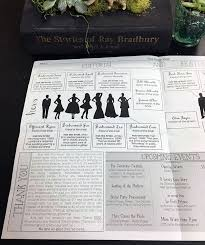 cool wedding programs read all about these custom newspaper wedding