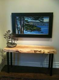reclaimed wood entry table beautiful contemporary entry table this modern console discover more