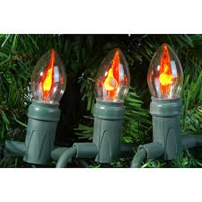 flicker flame string lights outdoor christmas string lights with flickering flame bulbs by