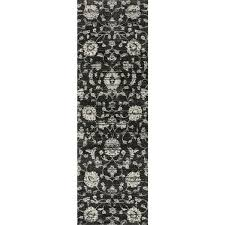 Floral Runner Rug Brently Black Floral Runner Rug 2 5 X 7 7 Free Shipping Today