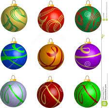 set of 3d swirl balls decorations stock vector image
