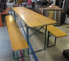 German Beer Garden Table by Old House Parts Company Architectural Salvage Antique Windows