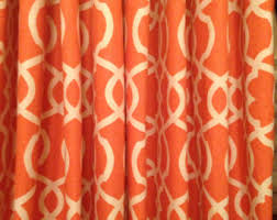 Bright Orange Curtains Burnt Red Curtains Elton Fabric In Mandarin By P Kaufman Orange With