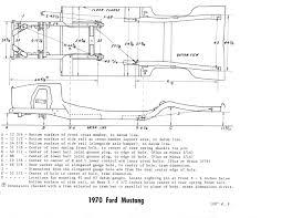 mustang frame measurement chart vintage mustang forums