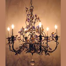 Iron Chandelier With Crystals Lantern Masters Los Angeles Ca Custom Lighting