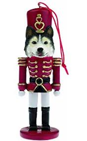 siberian husky ornament with