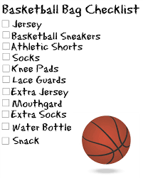 sports bag checklists free printable love laughter foreverafter
