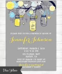 royal blue yellow navy gray mason jars invitation shabby chic