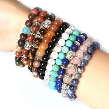 stones bracelet images 8mm 1 set round beads natural stone beads including buddha skull jpg
