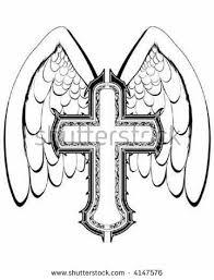 vector cross wings stock vector 4147576