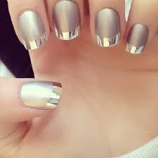 matte nail polish silver line popular grey vogue smooth long