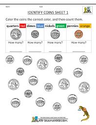 Free Printable Math Worksheets Kindergarten Kindergarten Money Worksheets 1st Grade