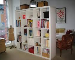 furniture small white modern ikea bookcase with small computer