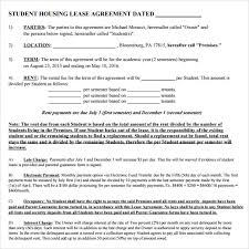 sample house lease agreement 9 documents in pdf word