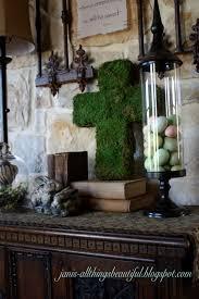 All Things Beautiful Moss Cross Diy Spring Entryway Decor