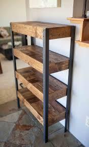 wood and wood and iron bookshelf ambershop co