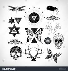 abstract gothic sacral illustration polygon crystal stock abstract gothic sacral illustration with polygon crystal design element symbol sign for tattoo