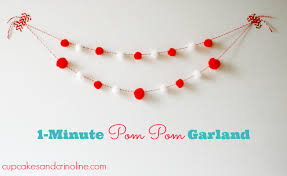 how to make a pom pom garland in less than 1 minute