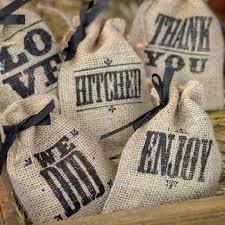 rustic wedding sayings wedding sayings burlap favor bags wedding give away