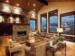 Craftsman Ceiling Fan by Craftsman Living Room With Ceiling Fan U0026 Exposed Beam In Park City