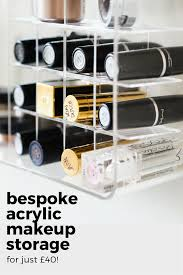 a bespoke acrylic makeup storage solution for 40 u2014