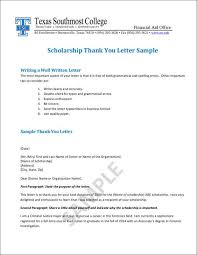 scholarship thank you letter samples scholarship thank you letter