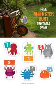 printable u0027monster hunt u0027 party game 12 cute monsters for hiding