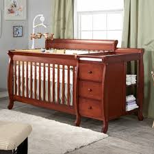 White Convertible Crib With Changing Table Baby Cribs With Changing Table Baby And Oslo Crib Dresser