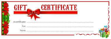 christmas gift certificate templates 2017 business plan template