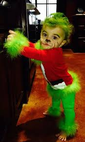Bad Santa Halloween Costume Sweet Baby Grinch Costume Bad Face
