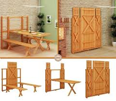 Wooden Folding Picnic Table Wonderful Diy Space Saving Fold Picnic Table