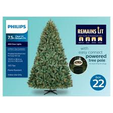 philips 7 5ft prelit artificial tree balsam fir clear