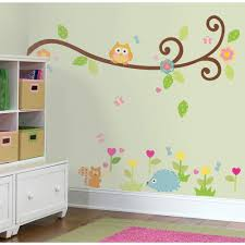 bedroom wall stickers decorate the stylishoms swirl branch and animals colorful wall sticker for kid bedroom decor