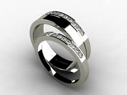 womens titanium wedding bands diamond wedding band set with thin and wide rings made from